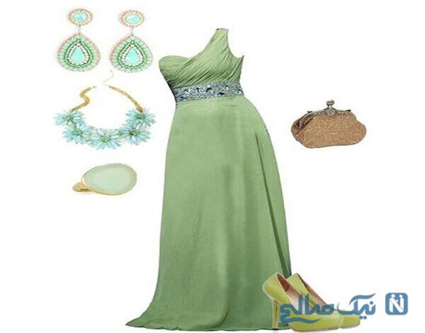 دیزاین زیبا از لباس نامزدی سبز