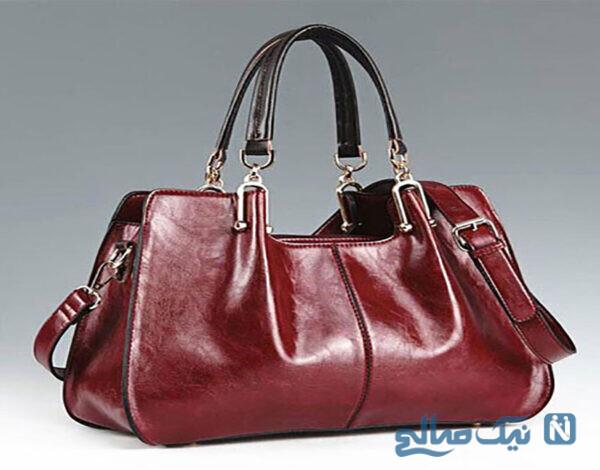 مدل های جدید کیف رنگ عنابی
