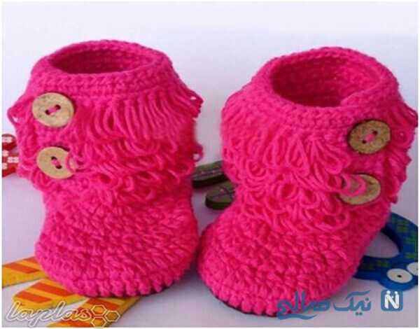 کفش بافتنی نوزادی