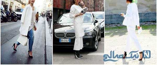 کتهای سفید در زمستان مخصوص خانم ها
