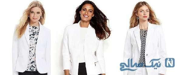 ست کردن کتهای سفید در زمستان مخصوص خانم های شیک پوش