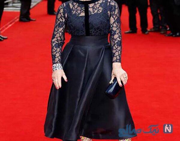 مدل لباس هلن میرن Helen Miren در هفته مد لندن