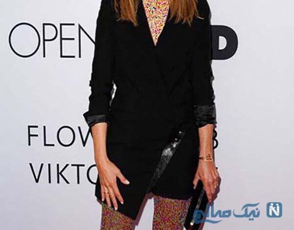 مدل لباس جنیفر آنیستون Jennifer Aniston در هفته مد لندن
