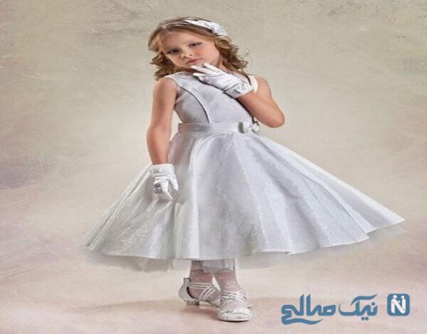 لباس مجلسی بچه گانه دخترانه شیک