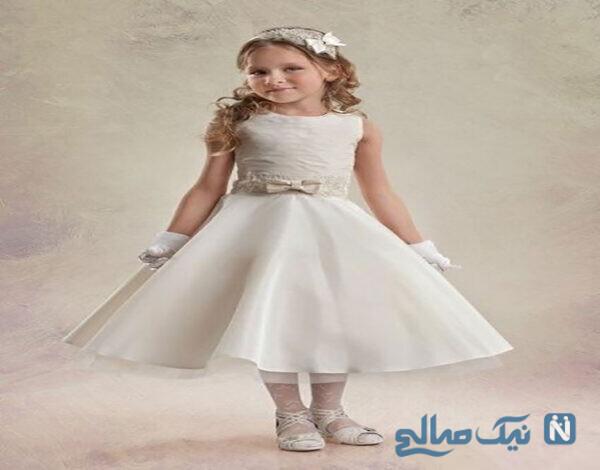 لباس عروس بچه گانه زیبا و شیک