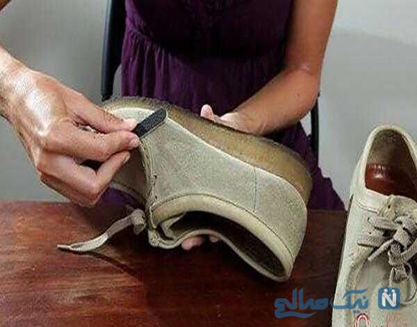 تمیز کردن کفش مخمل به روش سوهان