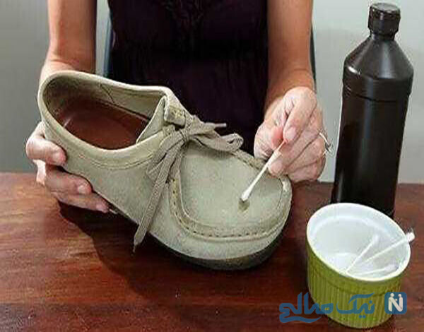 تمیز کردن کفش مخمل با کمک الکل