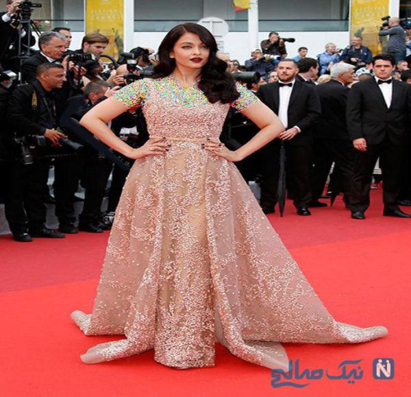 مدل لباس آیشواریا رای Aishwarya Rai در چهارمین روز جشنواره کن