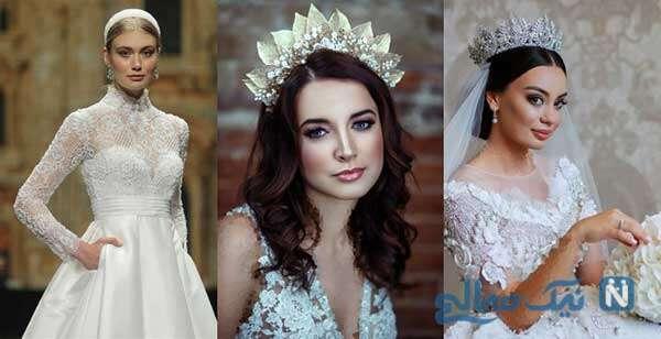 شیک ترین مدلهای تاج عروس