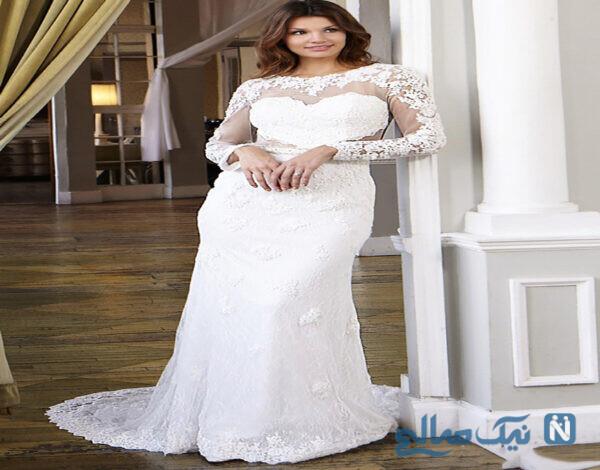 لباس عروس ساده و آستین دار