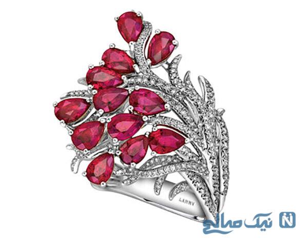 مدل انگشتر جواهر یاقوت