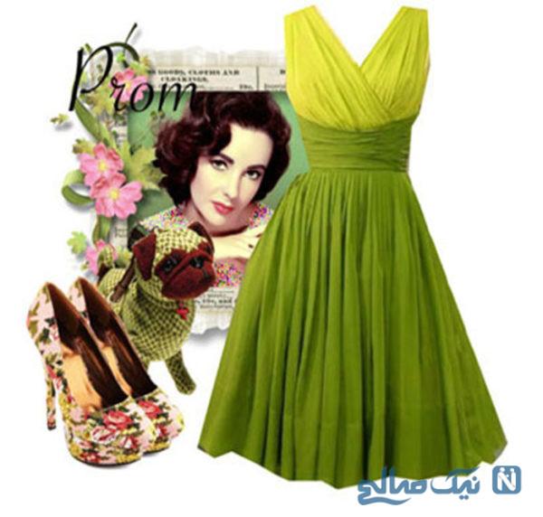ست لباس مجلسی سبز