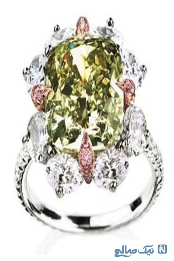 حلقه الماس صورتی