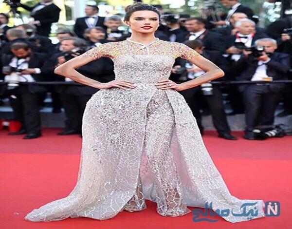 لباس الساندرا آمبروزیو Alessandra Ambrosio در دهمین روز جشنواره Cannes