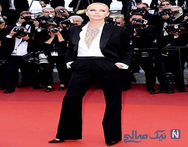 لباس چارلیز ترون Charlize Theron در دهمین روز جشنواره کن