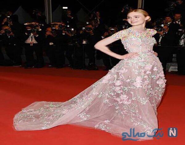 لباس ال فانین Elle Fanning در دهمین روز جشنواره کن Cannes