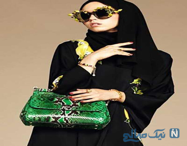 مدل چادر عربی, مدل مانتو و شال عربی،مدل مانتو عربی برند D&G