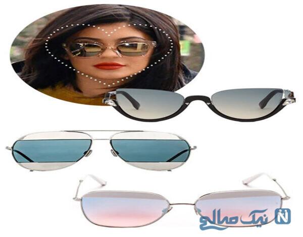 مدل عینک آفتابی مناسب برای صورت های بیضی