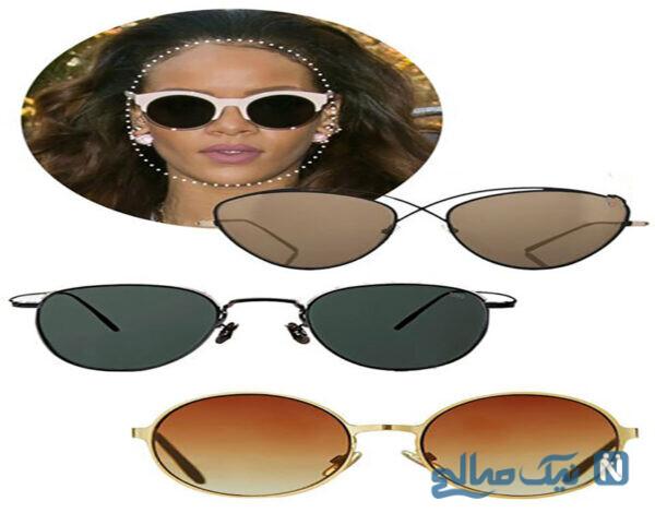 مدل عینک آفتابی مناسب برای صورت های گرد