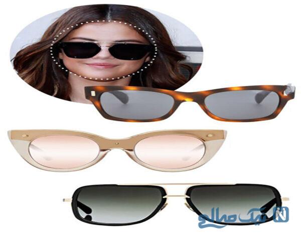 مدل عینک آفتابی مناسب برای صورت های مربع