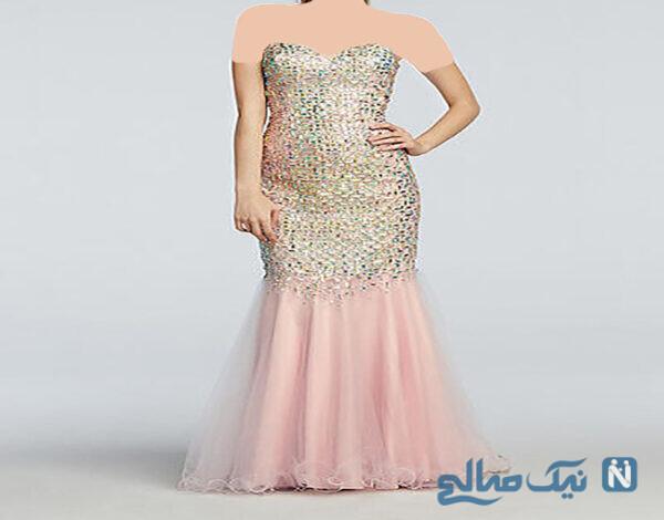 مدل لباس شب شیک بلند