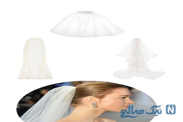جدیدترین مدل تاج و تل و تور عروس اروپایی