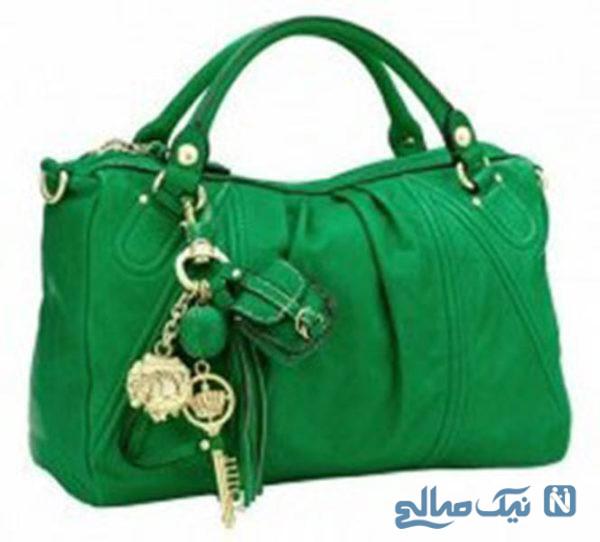 مدل کیف سبز رنگ