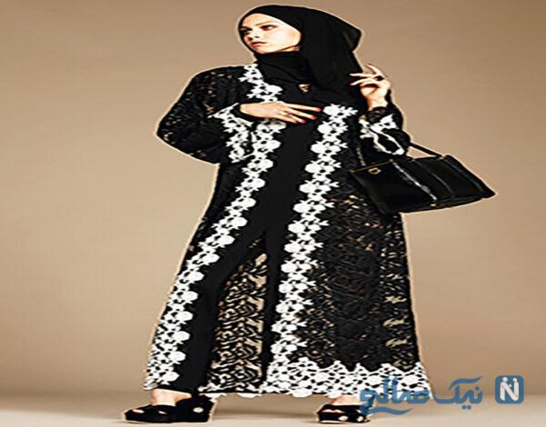 مدل مانتو بسیار شیک با حجاب