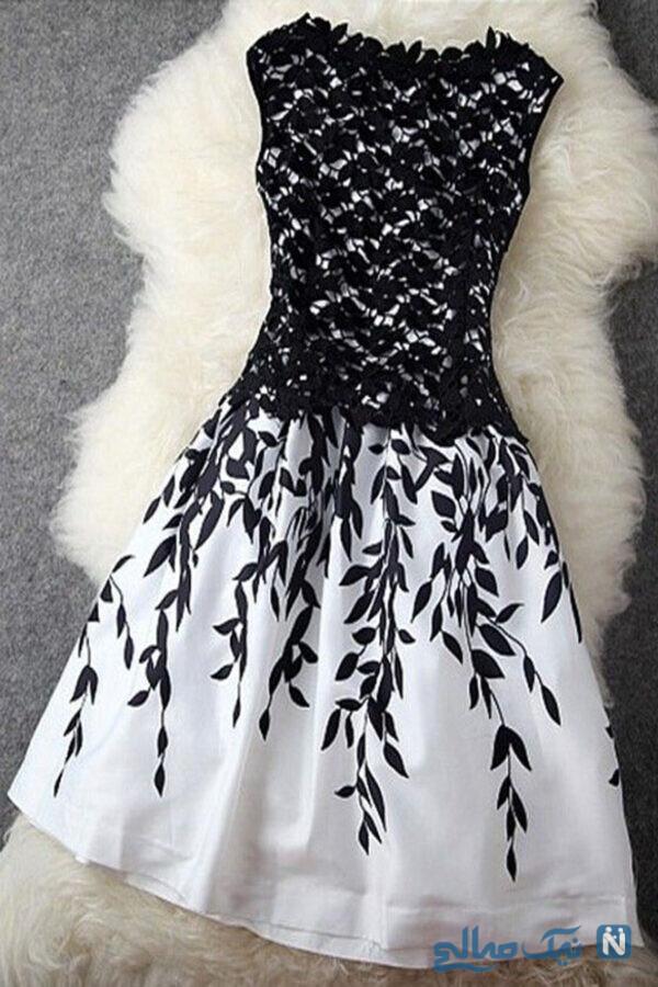 لباس کوتاه دخترانه مجلسی