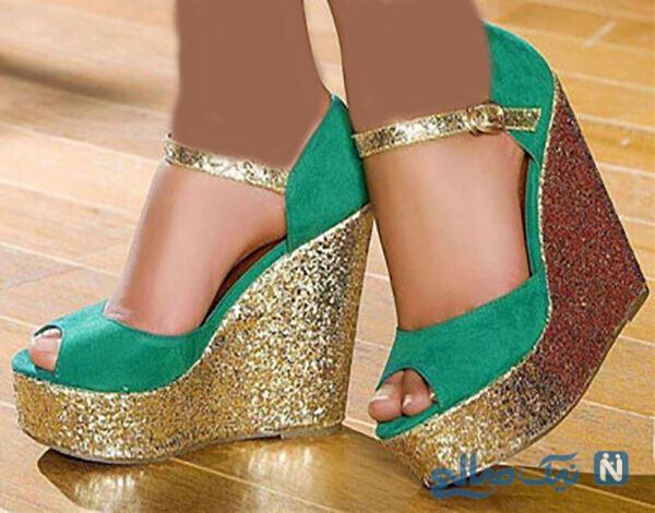 کفش زنانه پاشنه لژدار