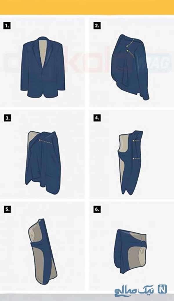 کتتان را درست تا کنید