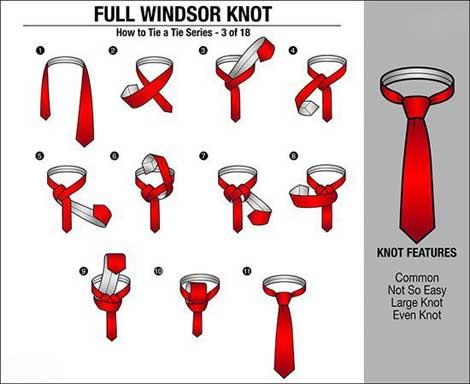 مدل بستن کراوات