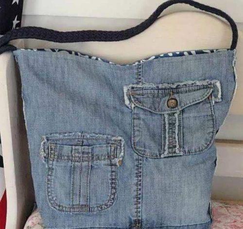 کیف جین دخترانه