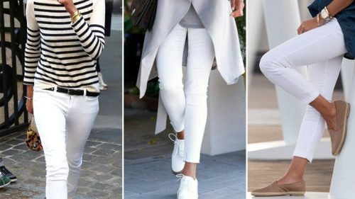 شلوار جین سفید