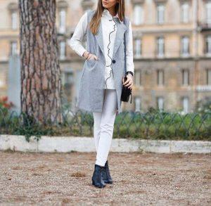 لباس شیک خاکستری رنگ
