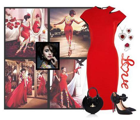 لباس شب تان را به رنگ قرمز و به سبک پنه لوپه کروز ست کنید!! +تصاویر