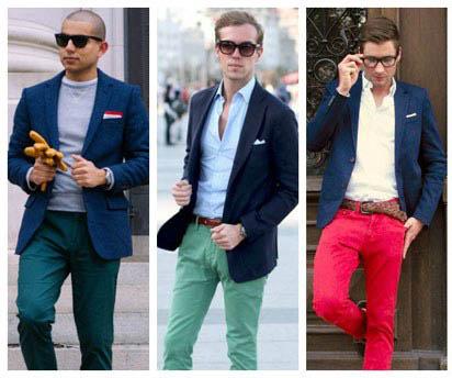 اگر می خواهید در میان مردان دیگر بدرخشید این نکات را حتما بخوانید/ ست کردن کت و شلوار رنگی +تصاویر
