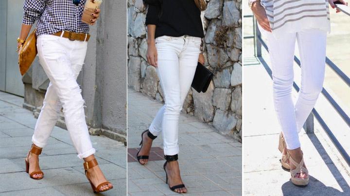 رابطه پوشیدن شلوار جین سفید و اندام زیباتر +تصاویر