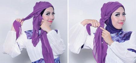 آموزش بستن روسری شیک + تصاویر