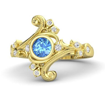 زیباترین مدل انگشتر توپاز آبی + تصاویر