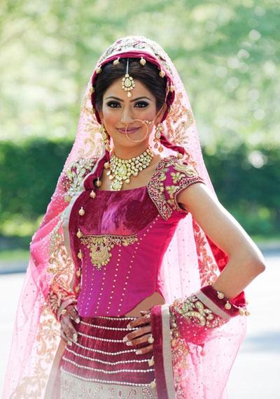 انواع مدلهای لباس عروس هندی +تصاویر