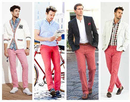 شلوار های رنگی برای آقایانی که همیشه تیپ جذاب دارند تصاویر