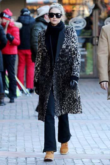 جذاب ترین تیپ های زمستانی جی جی حدید مدل مشهور آمریکایی تصاویر