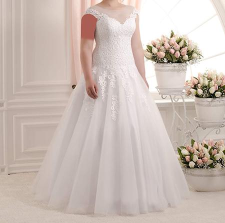 جدیدترین مدل لباس عروس برای عروس خانم های سایز بزرگ +تصاویر