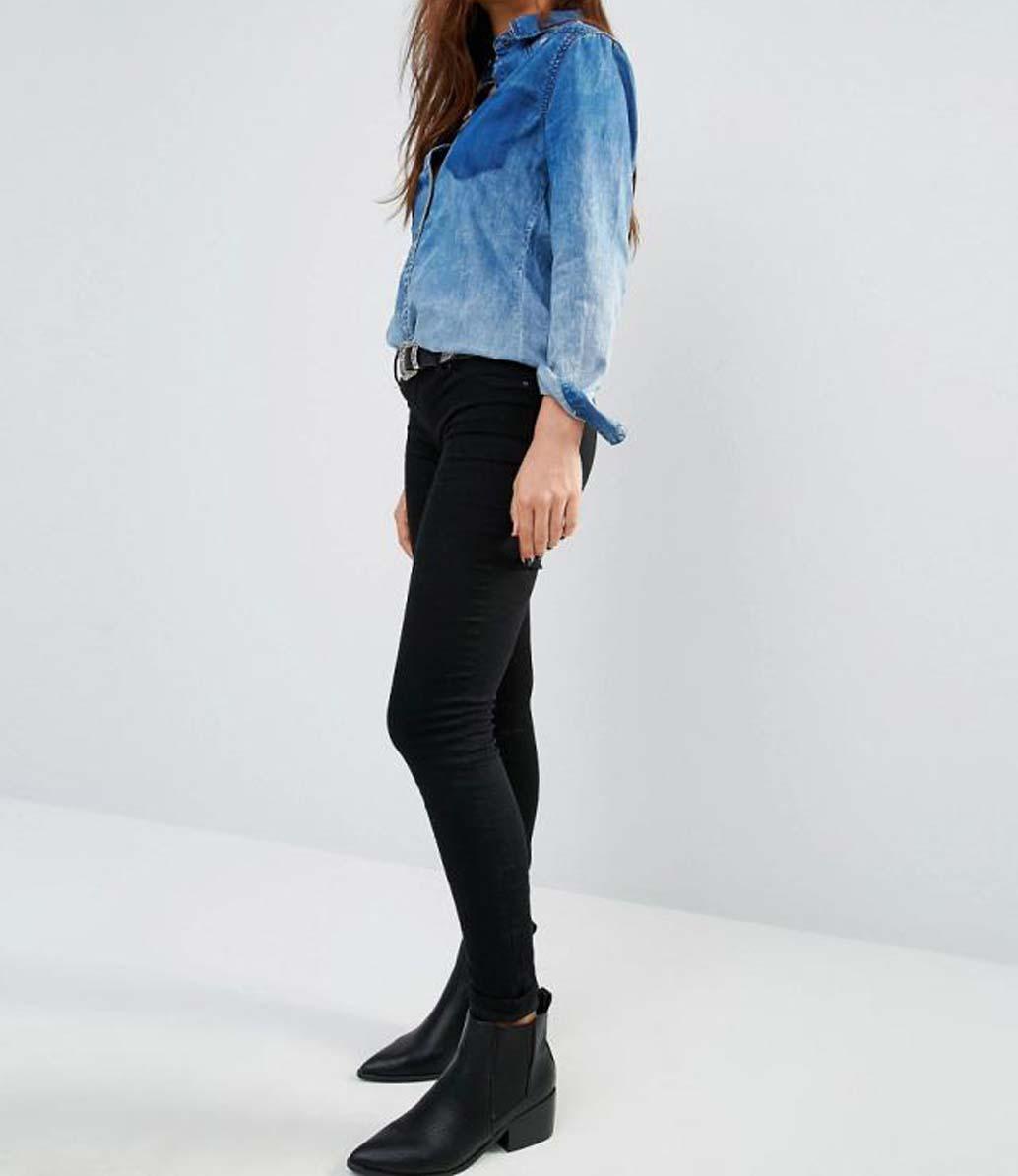 لباس هایی که با شلوار جین مشکی شمارا شیک تر نشان میدهد تصاویر