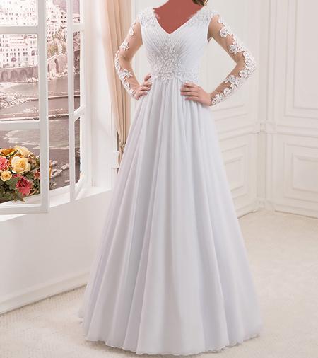 شیک ترین لباس عروس های آستین دار +تصاویر