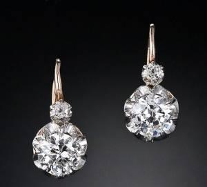 گوشواره های الماس مخصوص مولتی میلیونرها
