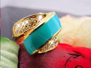 مدل انگشتر فیروزه طلا و نقره زنانه