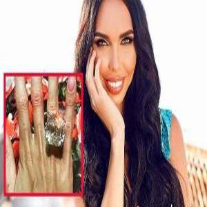 حلقه ازدواج ۳۵ میلیاردی در دست مدلینگ زن