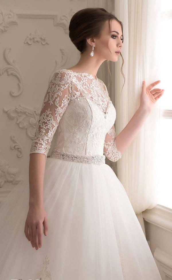 مدل های لباس عروس آستین دار اروپایی